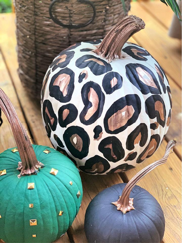 Easy Leopard Painted Pumpkin