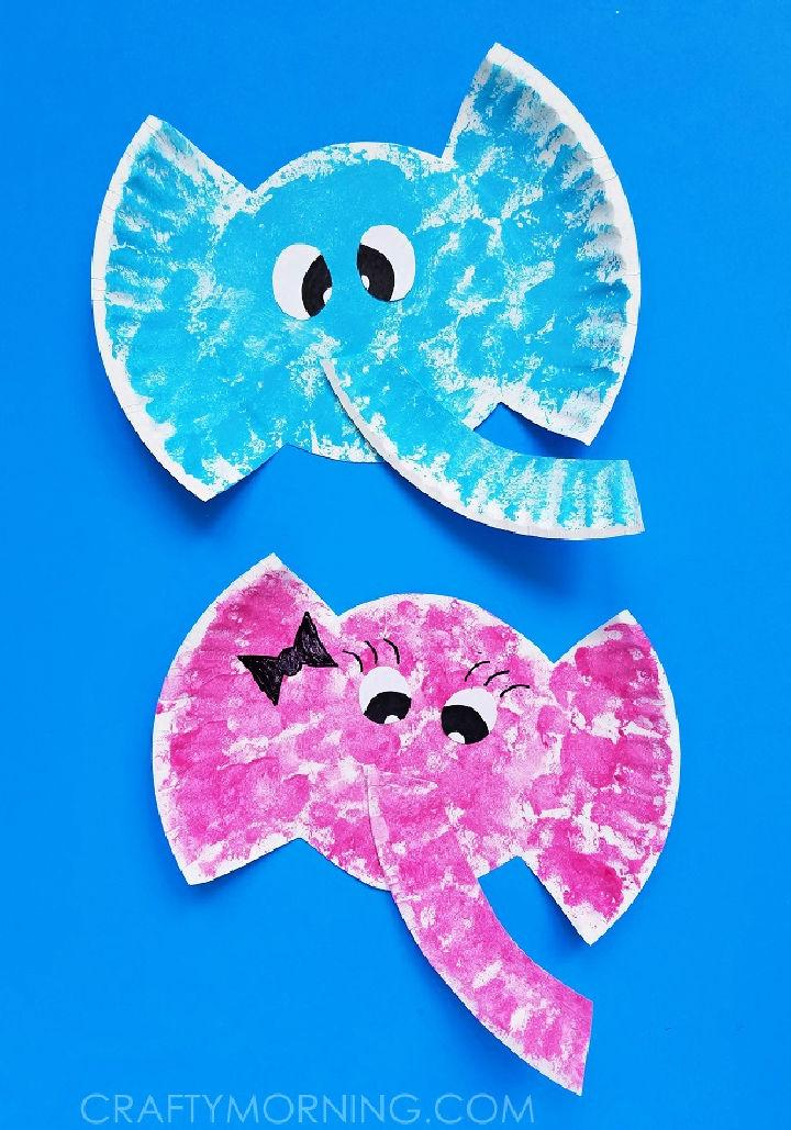 Easy to Make Paper Plate Elephant