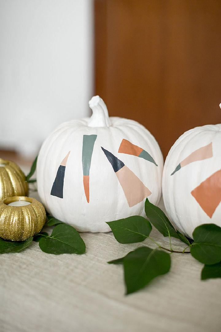 Halloween Pumpkins With Painted Dashes