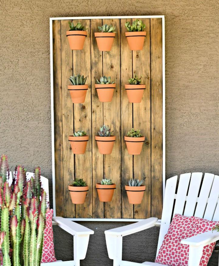 Hanging Potted Wall Of Succulents