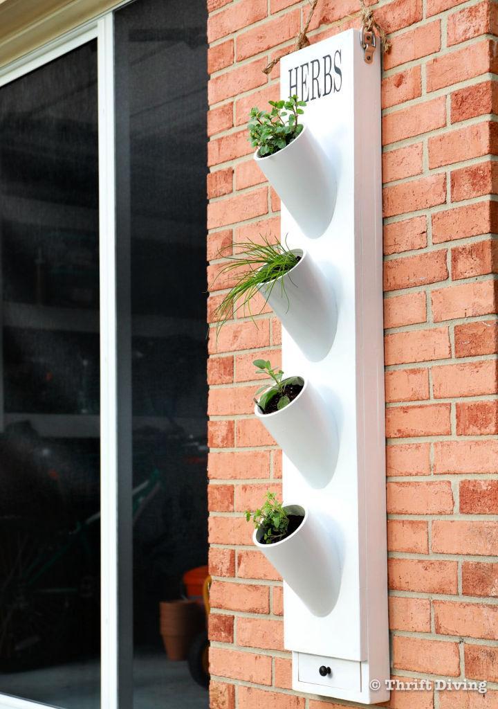 Herb Garden Planter Using PVC Piping