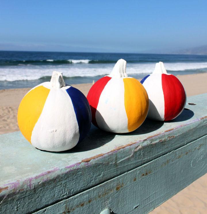 Homemade Beach Ball Pumpkins