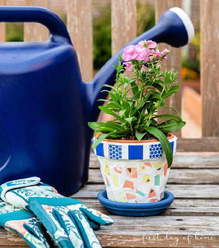 How to Make Mosaic Flower Pot