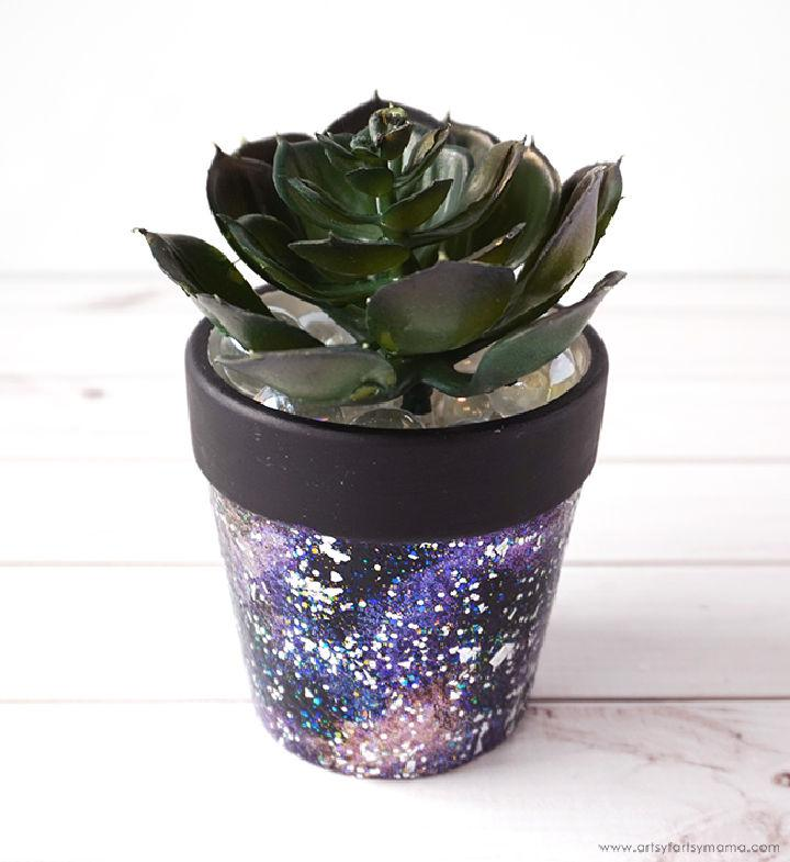 Make Your Own Galaxy Flower Pot