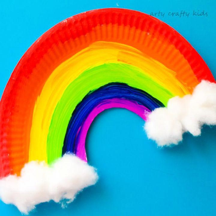 Make a Paper Plate Rainbow
