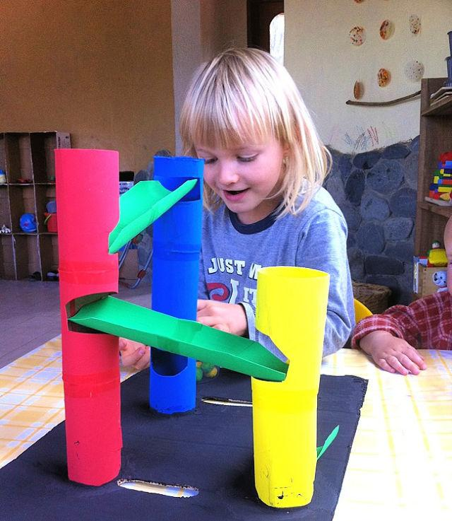 Marble Run Out of Toilet Rolls