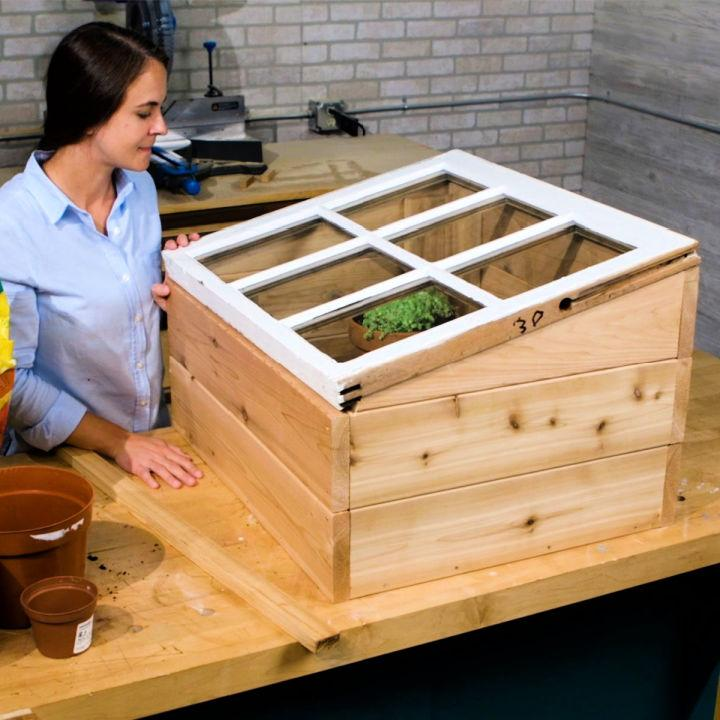 Old Window Mini Indoor Greenhouse