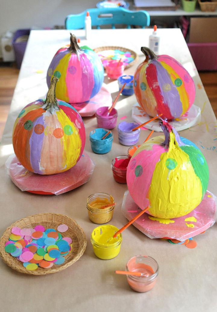 Painted Pumpkins with Kids