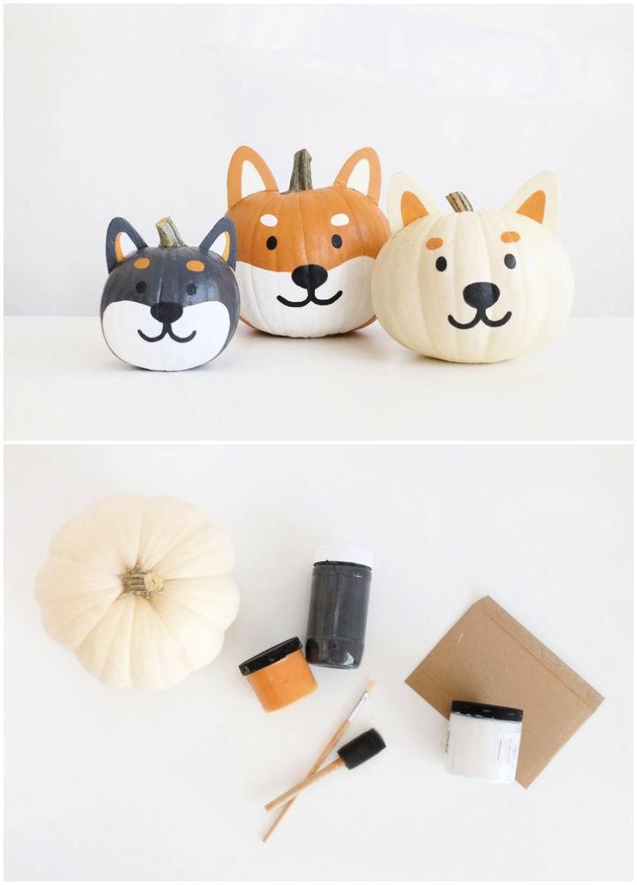 Painted Shiba Pumpkins