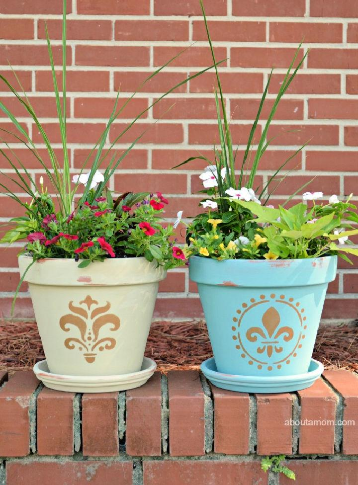 Painting Your Own Flower Pots