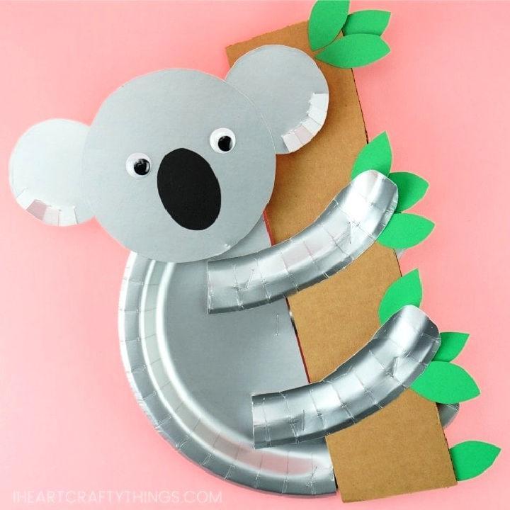 Paper Plate Koala Printable Template