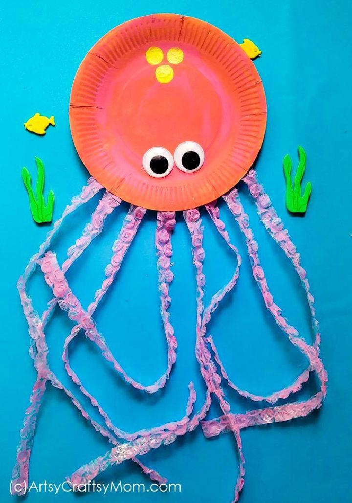 Paper Plate Octopus for Toddler