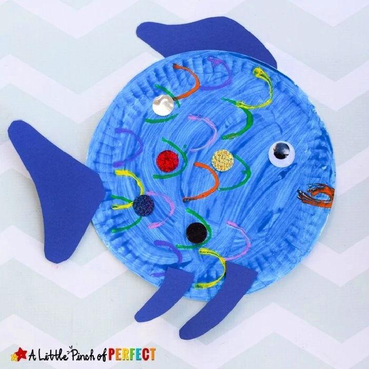 Paper Plate Rainbow Fish
