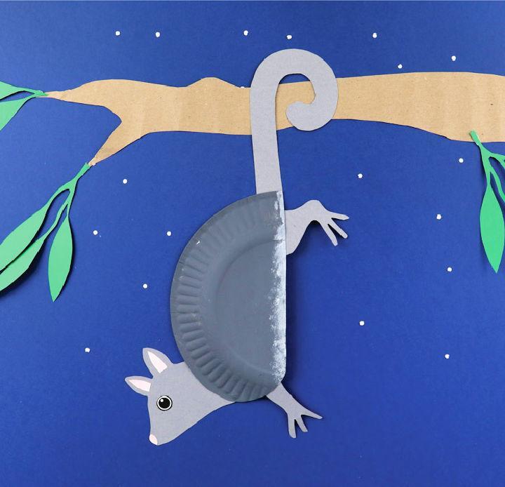 Paper Plate Ringtail Possum