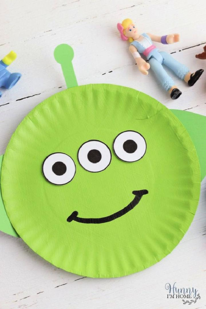 Paper Plate Toy Story Aliens