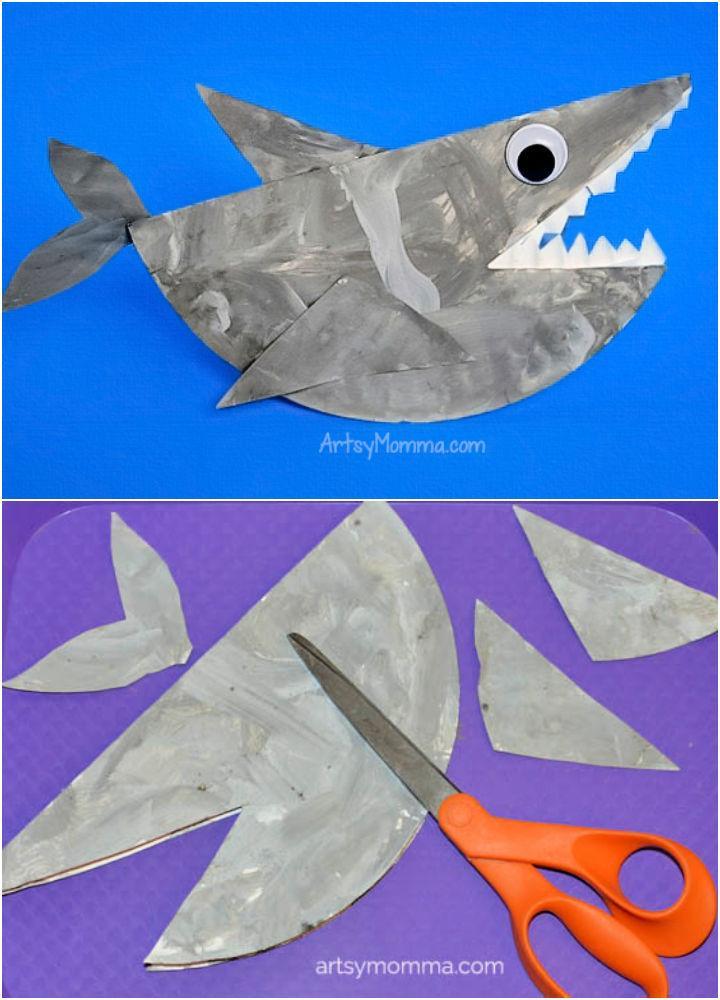 Rocking Paper Plate Shark