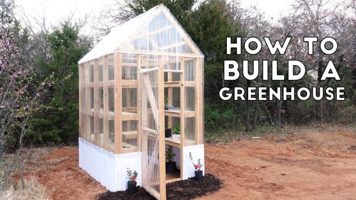 Simple Sturdy Greenhouse From 2x4s