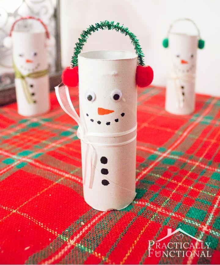 Toilet Paper Roll Snowmen