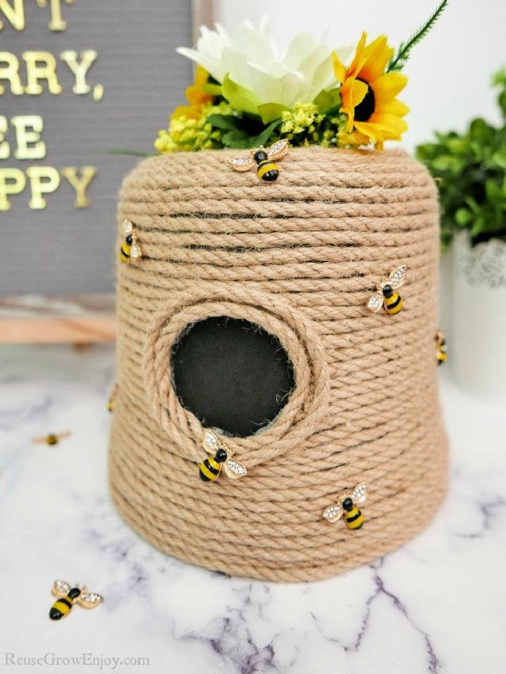 Upcycled Flower Pot from Beehive