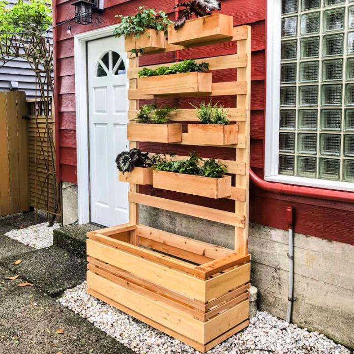 Vertical Garden Wall Planter with Plans