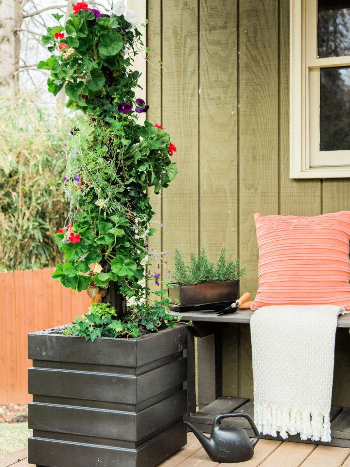 Vertical Garden With PVC Pipe
