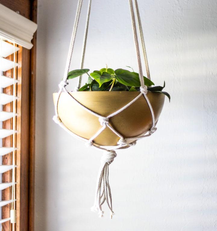 Cheap DIY Brass Hanging Planter