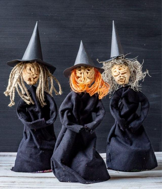 DIY Apple Head Doll Witches