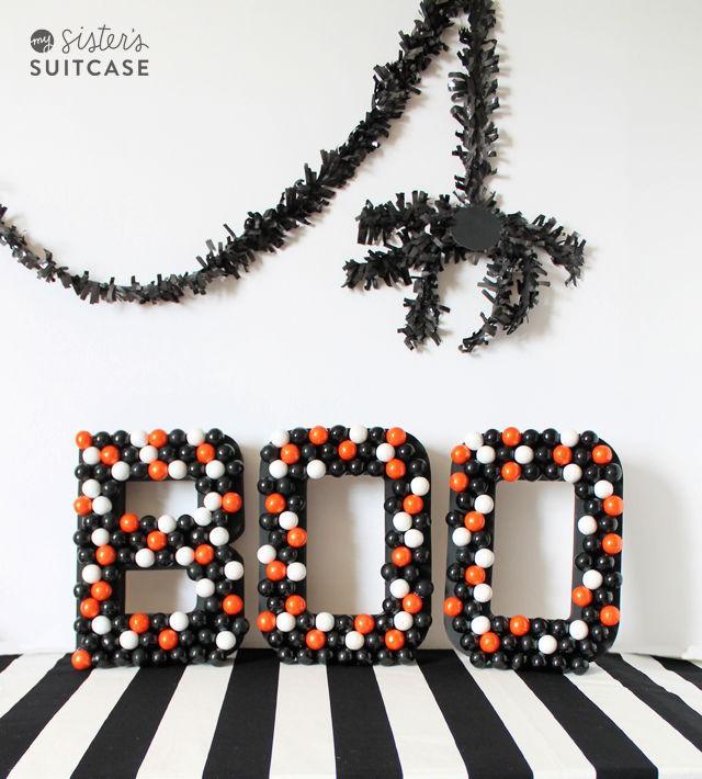 DIY Halloween Gumball Letters