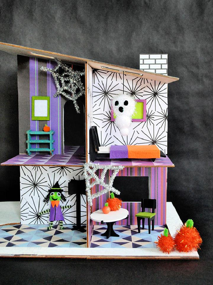 DIY Haunted Halloween Dollhouse