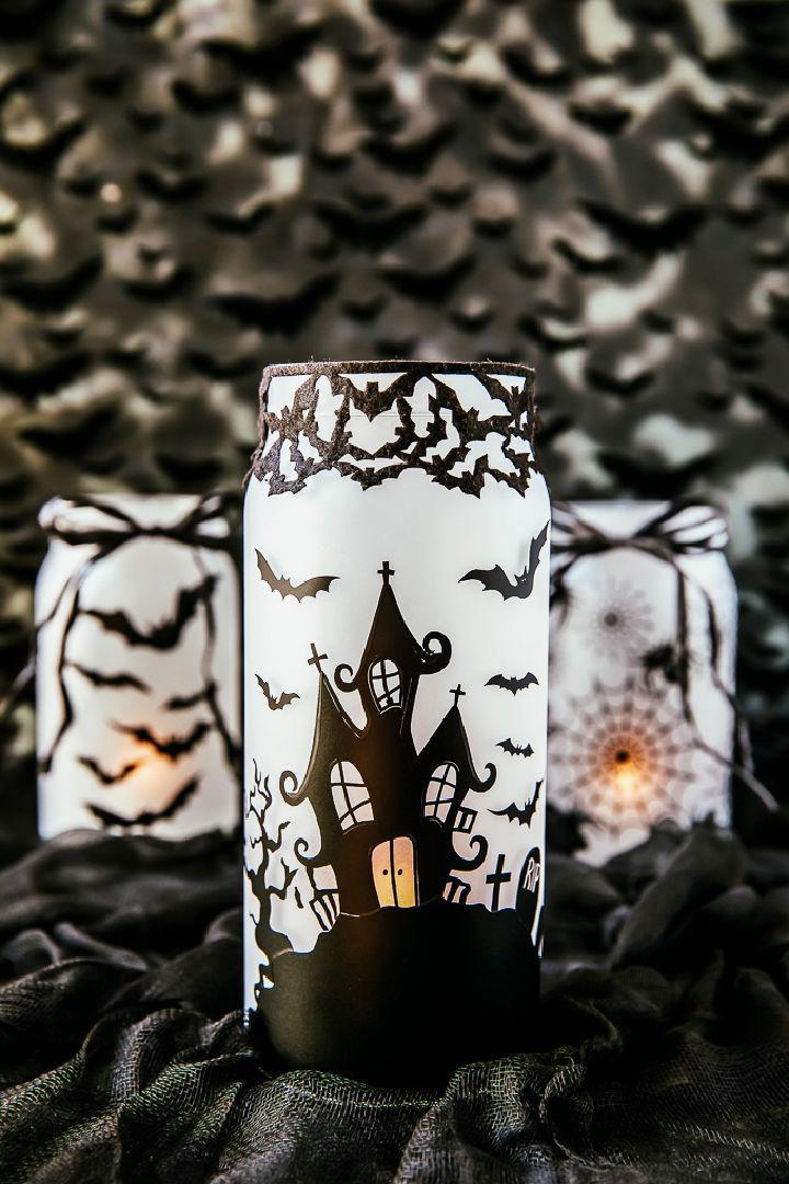 DIY Haunted House Mason Jar