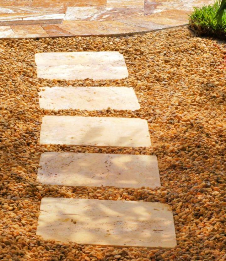DIY Path Stepping Stones