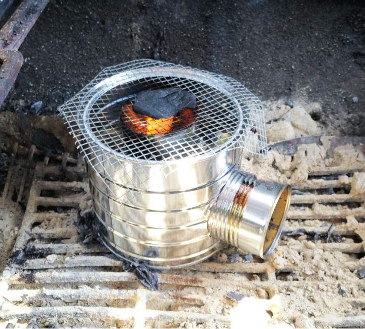 DIY Rocket Stove from Recycled Coffee Can