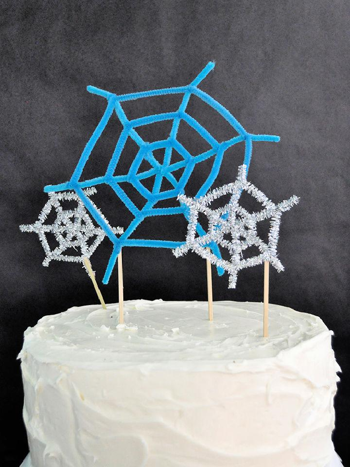 DIY Spiderweb Cake Toppers