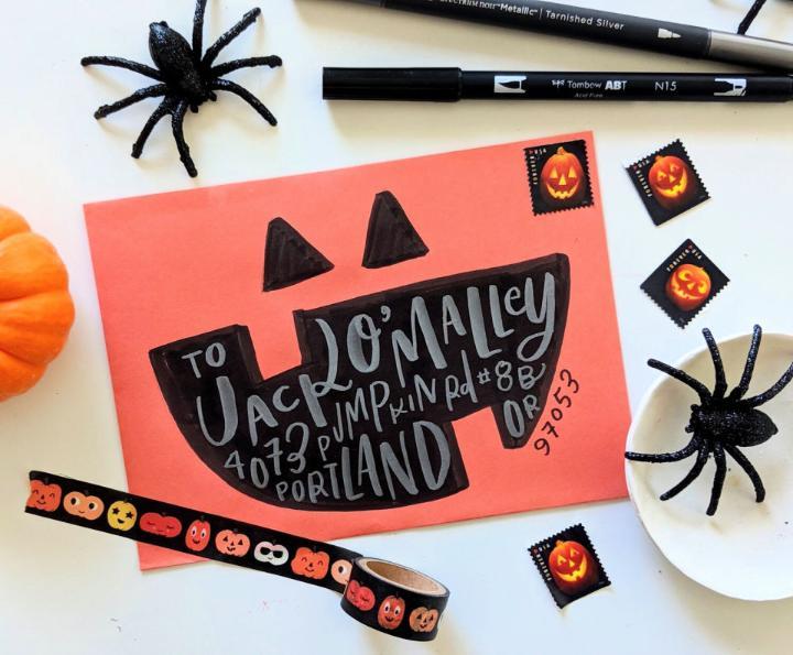 DIY Spooky Mail Art