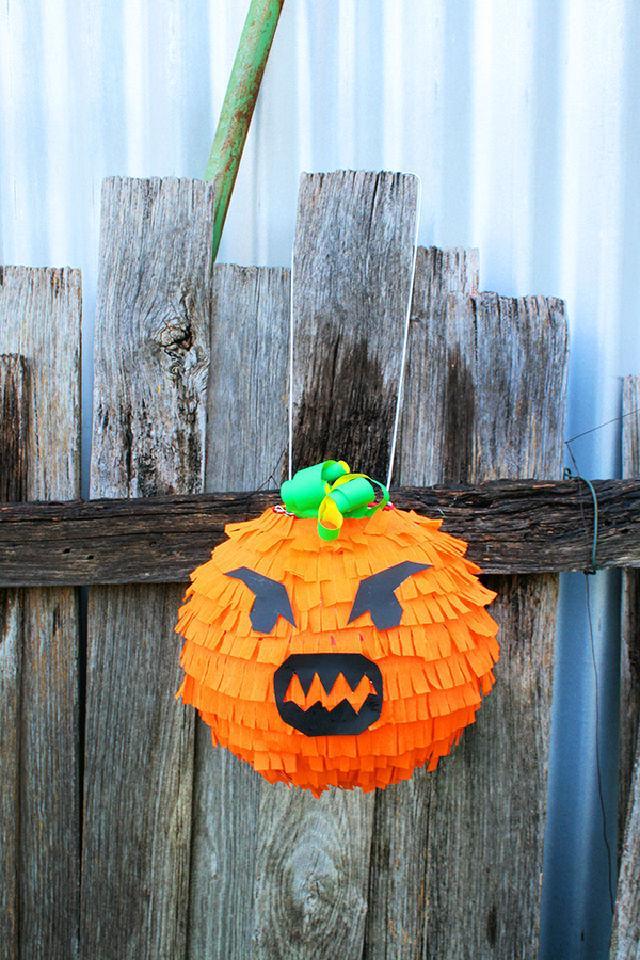 DIY Spooky Pumpkin Pinata