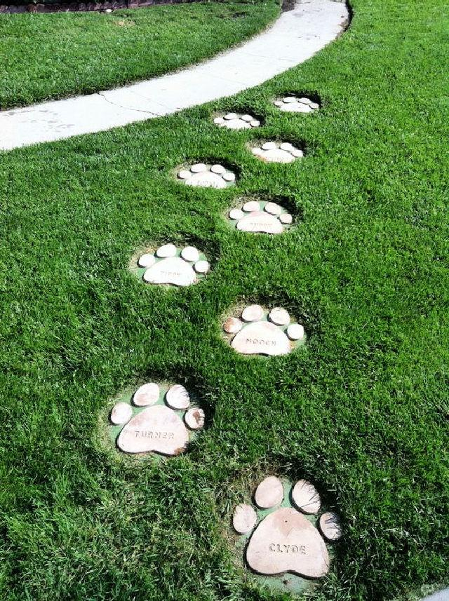 Dog Paws Stepping Stones