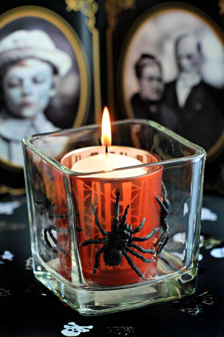Easy and Spooky Halloween Votive