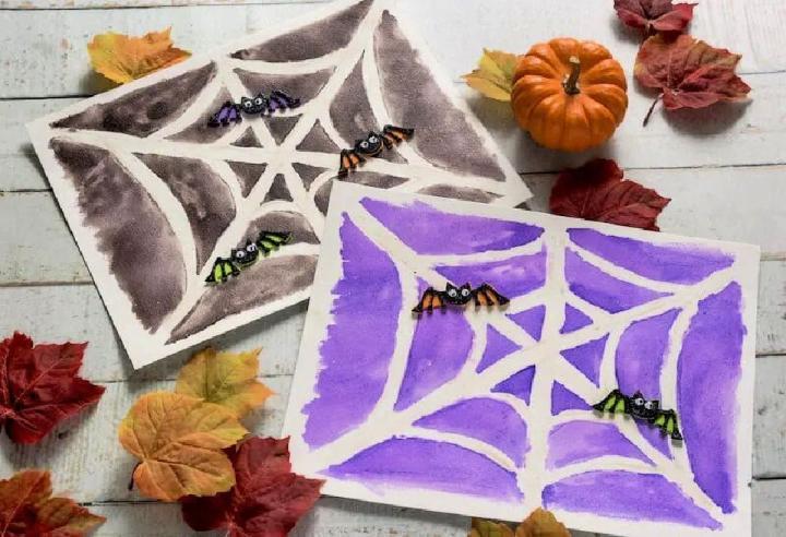 Halloween Drawings with Sugar