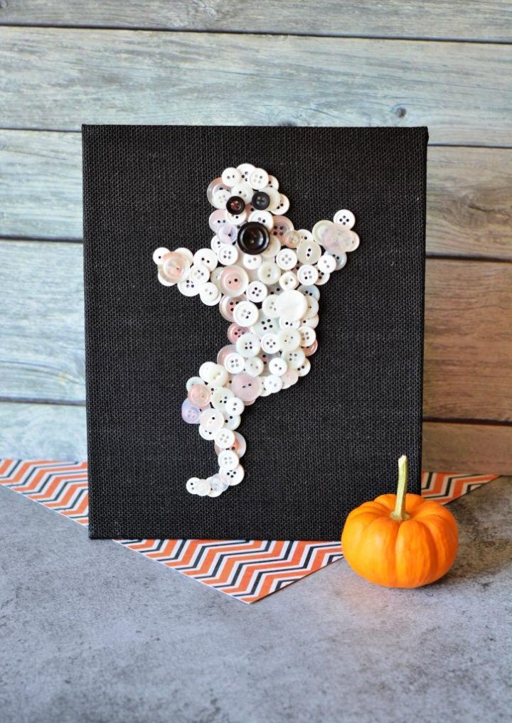 Halloween Ghost Button for Preschoolers