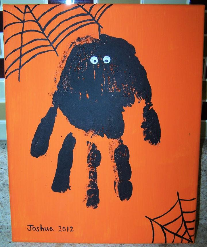 Halloween Kindergarteners Handprint Art