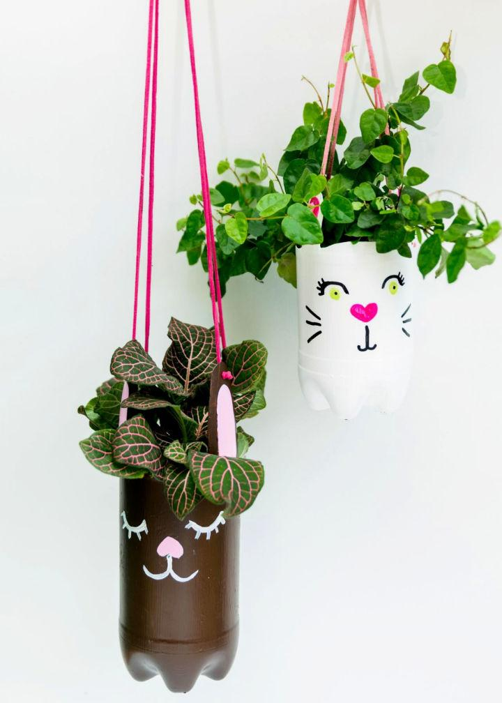 Hanging Planter from Recycled Plastic Bottles