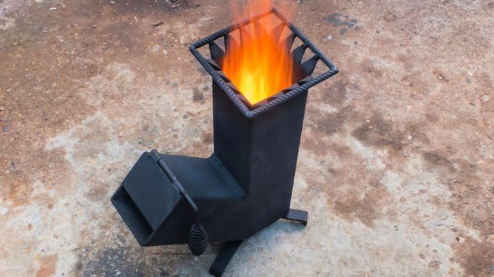 Homemade Wood Burning Rocket Stove