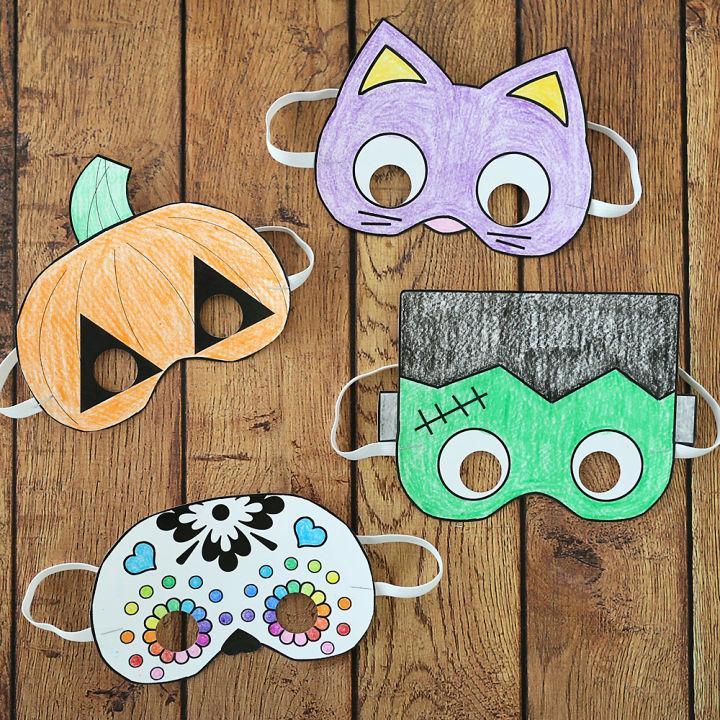 Inexpensive Printable Halloween Masks