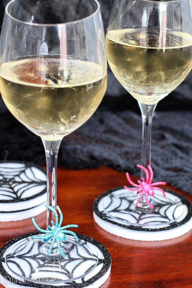 Make Your Own Spiderweb Coasters