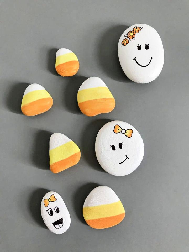 Painted Ghost Rocks Craft for 4 Year Olds