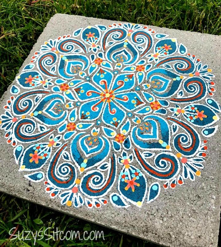 Painted Stepping Stones with Stencils