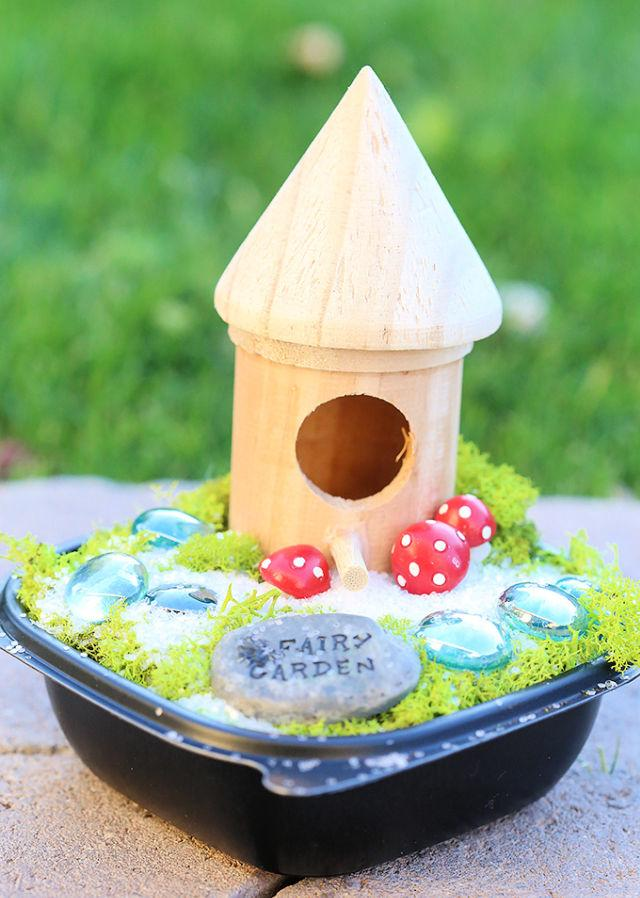 Upcycled Fairy Garden for Kids