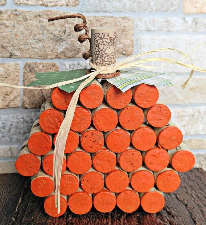Wine Cork Pumpkin Easy Decor Craft