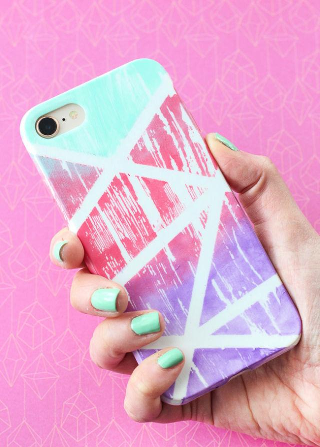 Abstract Gradient Painted Cell Phone Case