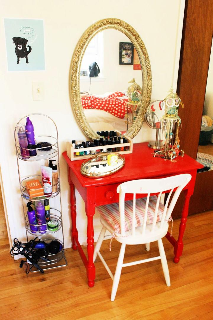 Apartment Size Makeup Vanity On A Budget